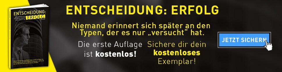 Entscheidung Erfolg Dirk Kreuter Banner