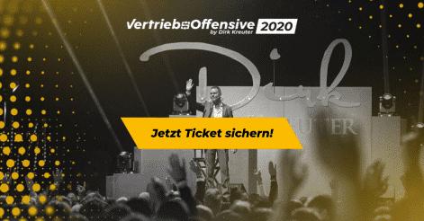 Ticket Sichern Vertriebsoffensive 2020 von Dirk Kreuter